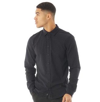 Blend Mens Long Sleeve Shirt Black