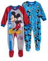 Disney Disney's Mickey Mouse Toddler Boy Fleece One-Piece Footed Pajama Set