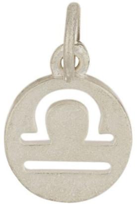 Mocha Libra Zodiac Plate Sterling Silver Charm