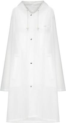 Vetements Hooded Logo-Print Raincoat