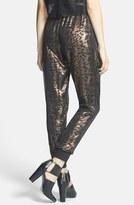 WAYF Sheer Overlay Iridescent Track Pants