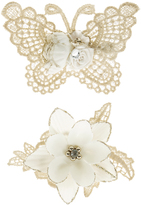 Monsoon 2x Butterfly & Lace Flower Hair Clips