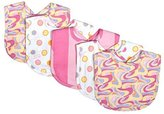 Trend Lab Dr. Seuss Oh, The Places You'll Go! Pink 5 Piece Bib Set, Pink by