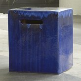 Crate & Barrel Carilo Cobalt Garden Stool