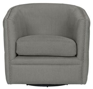 Mercer41 Rosalba Button Tufted Swivel Club Chair