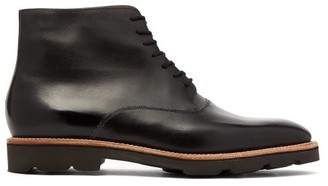 John Lobb Burrow Leather Boots - Black