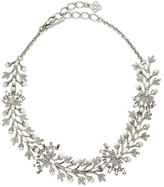 Oscar de la Renta Crystal Baguette Leaf Necklace
