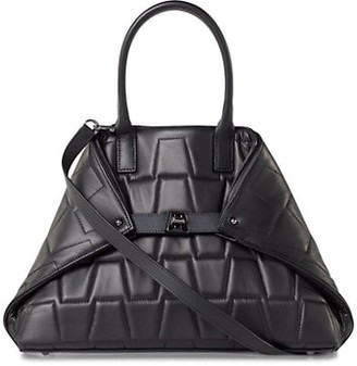 Akris Small AI Quilted Leather Tote