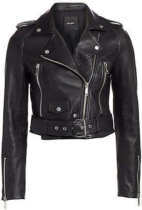 LTH JKT Mya Leather Cropped Moto Jacket