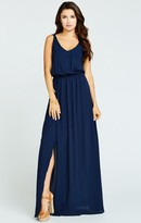 MUMU Kendall Maxi Dress ~ Rich Navy Crisp