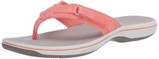 Clarks Women's Breeze Sea Flip-Flop Bright Rose Synthetic 120 M US