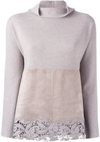 Fabiana Filippi lace detail jumper