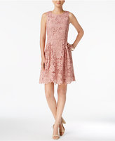 CeCe Claiborne Lace Fit & Flare Dress