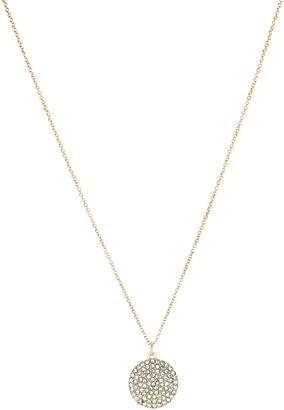 Panacea Pave Disc Pendant Necklace