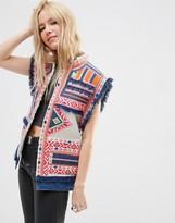 Asos Premium Embroidered Festival Vest