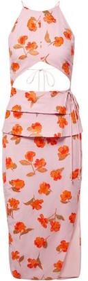 Altuzarra Julietta Cutout Fil Coupe Chiffon Midi Dress