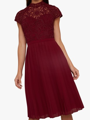 Chi Chi London Kirstin Dress, Burgundy