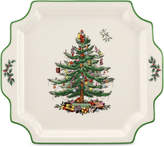 Spode Christmas Tree Square Handled Platter