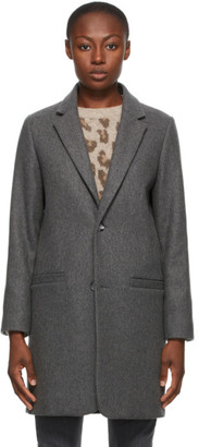 A.P.C. Grey Wool Carver Coat