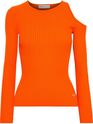 Emilio Pucci Cutout Ribbed-knit Top