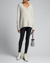 Vince V-Neck Panel Back Cashmere Tunic