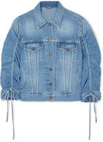 Kenzo Trucker Gathered Denim Jacket - Mid denim
