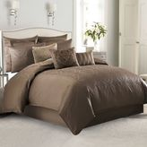 Manor Hill Sienna Damask Queen Comforter Set in Mocha