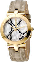 Just Cavalli Women's Watches Women's Womens Leather & White Dial Watch, 34mm