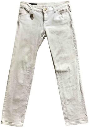 Gucci White Cotton Jeans