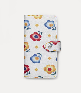 Vivienne Westwood Derby Double Flap Iphone Wallet Andreas' Flowers - Xs Max