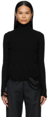 Balenciaga Black Wool Destroyed Turtleneck