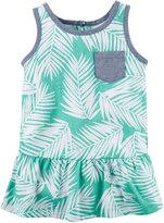 Carter's Toddler Girl Tropical Chambray Pocket Peplum Tank