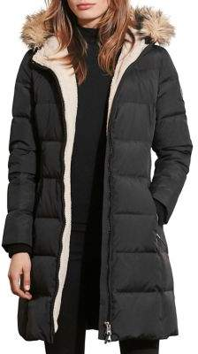 Lauren Ralph Lauren Petite Faux Fur-Trimmed Quilted Down Coat