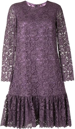 Adam Lippes Long Sleeve Ruffled Detail Dress