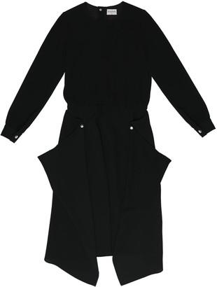 Acephala Midi Black Dress