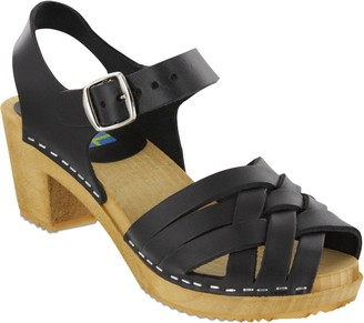 Mia Shoes Leather Platform Clogs - Bety