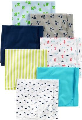 Simple Joys by Carter's Baby Boys' 7-Pack Flannel Receiving Blanket