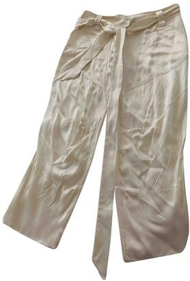 Plein Sud Jeans Ecru Trousers for Women