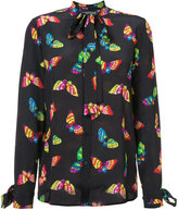 Moschino butterfly pussy bow blouse