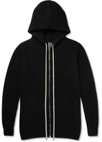 Rick Owens Double-faced Cashmere Hoodie - Black