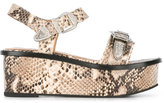 Toga Pulla embossed platform sandals - women - Calf Leather/Leather/Metal (Other)/rubber - 40