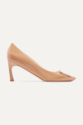Roger Vivier Belle Vivier Trompette Patent-leather Pumps - Beige