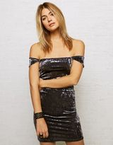 American Eagle Outfitters Don't Ask Why Velvet Cap Sleeve Dress