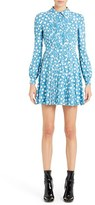 Valentino Women's Star Print Long Sleeve Silk Dress