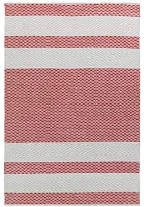 Camilla And Marc Vallila Vilho Rug 140x200 cm, Cotton, Beige/Red, 200 x 1 x 140 cm