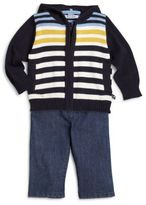Hartstrings Baby's Country Gentleman Striped Hooded Sweater