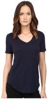 ATM Anthony Thomas Melillo Slub Jersey V-Neck Women's T Shirt