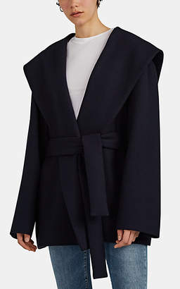 The Row Women's Reyna Double-Faced Cotton-Wool Coat - Navy