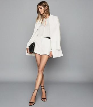 Reiss Tally - Collarless Blazer in White