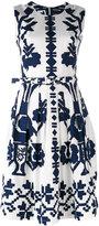 Samantha Sung flared sleeveless dress